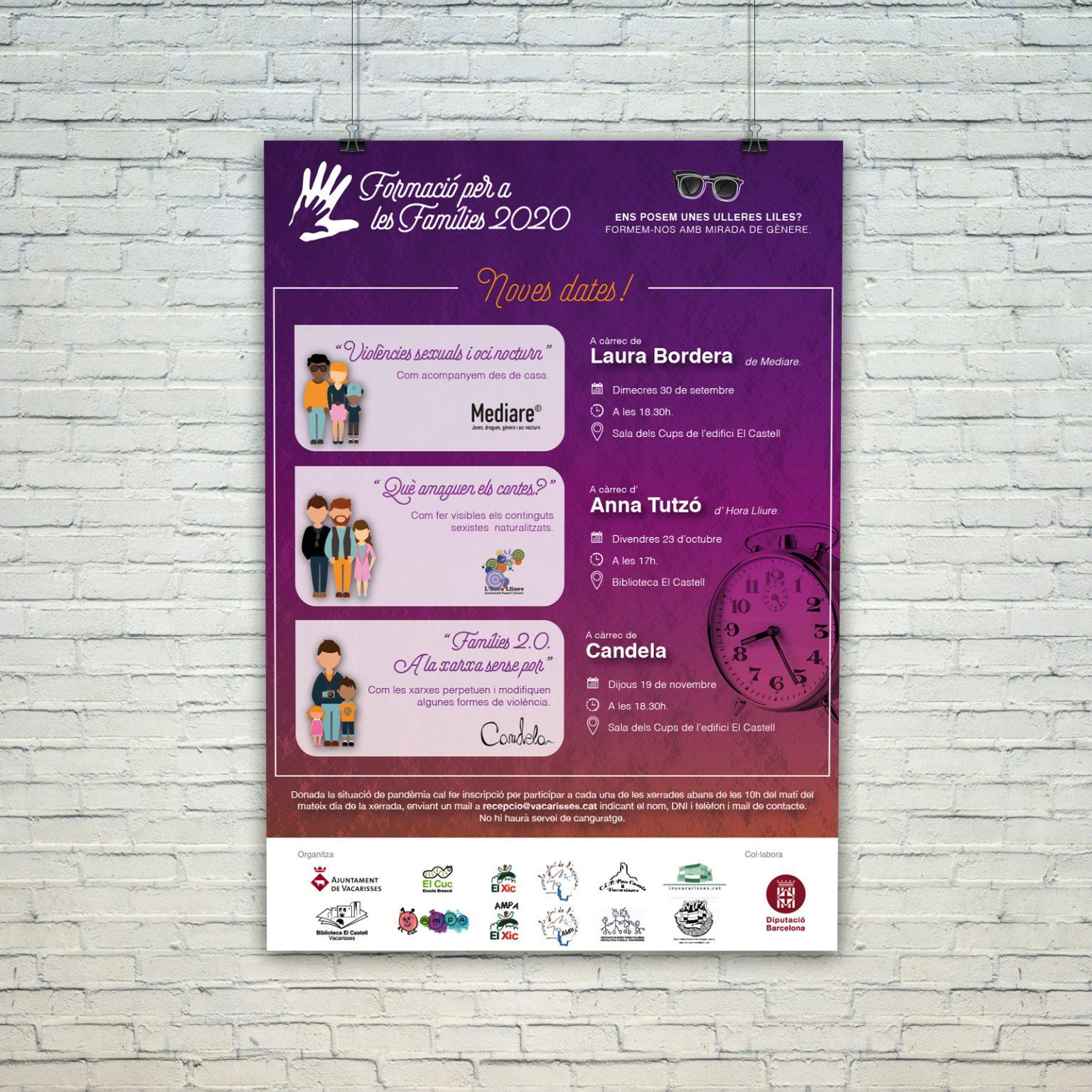 AYUNTAMIENTO DE VACARISSES   Formació per a les famílies 2020   REPROGRAMACIÓ